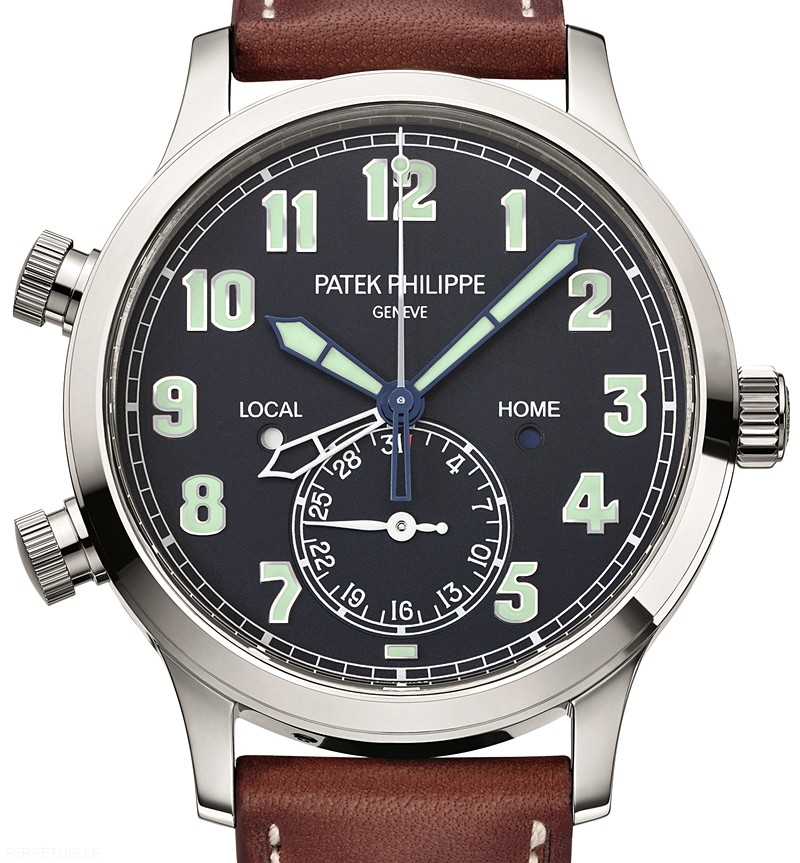 Patek Philippe Ref 5524 Calatrava Pilot Travel Time watch - Perpetuelle