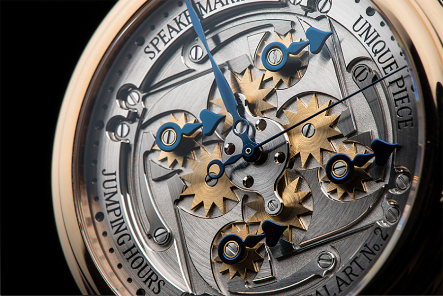 Speake-Marin Jumping Hours Unique Piece Dial Detail