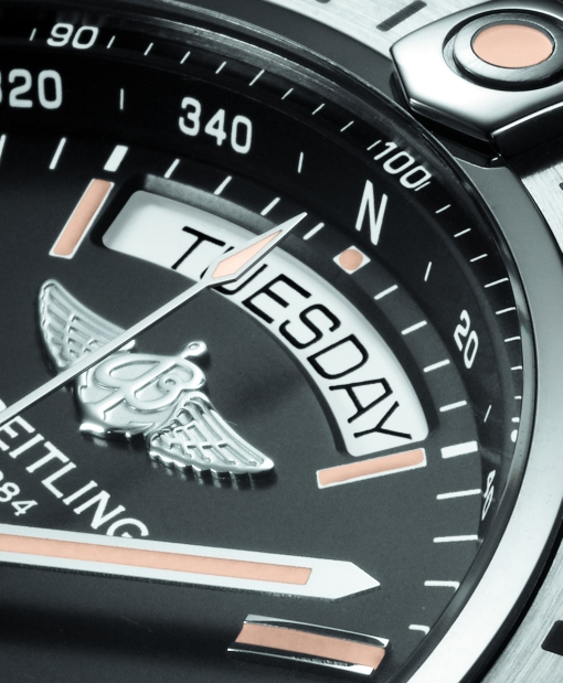 Breitling Galactic 44 (dial fragment)