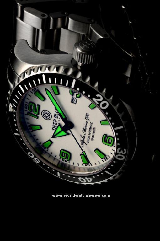 Deep Blue Alpha Marine 500 diving watch (green dial)