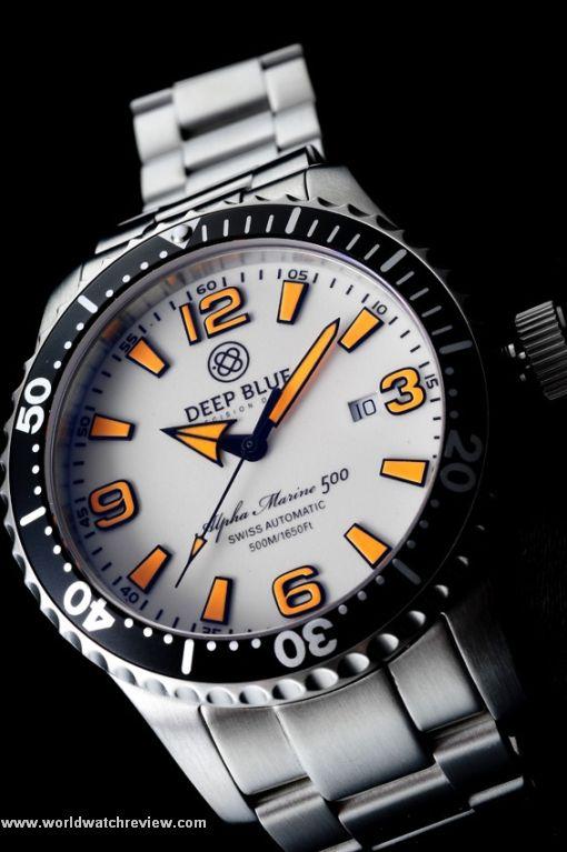 Deep Blue Alpha Marine 500 diving watch (orange dial)