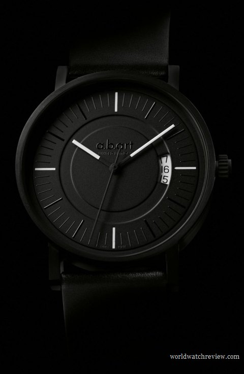 A.B.Art Special OA All Black automatic wrist watch (front view)