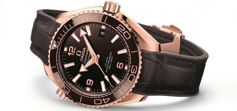 2016 New Omega Seamaster Planet Ocean 600m Master Chronometer Rose Gold Fake Watch