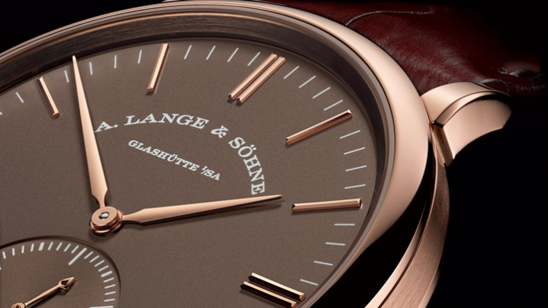 A. Lange & Söhne Saxonia Automatic Power Reserve Brown Dial Leather Strap Replica Watch