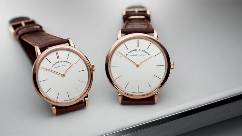 2016 SIHH A. Lange & Söhne Saxonia Thin Stainless Steel and Rose Gold Replica Watches