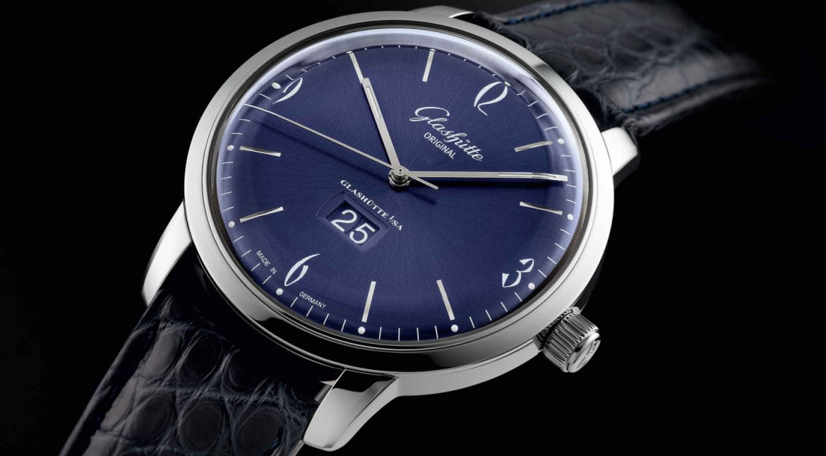 The Generous Replica Steel Glashutte Original Sixties Panorama Date Watch