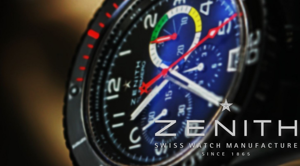 Zenith El Primero Stratos Flyback Rainbow Chronograph Black Steel Replica Watch