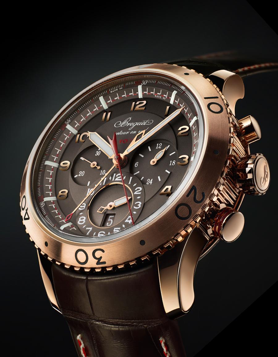 Rose Gold Breguet Type XXII 3880 replica watch