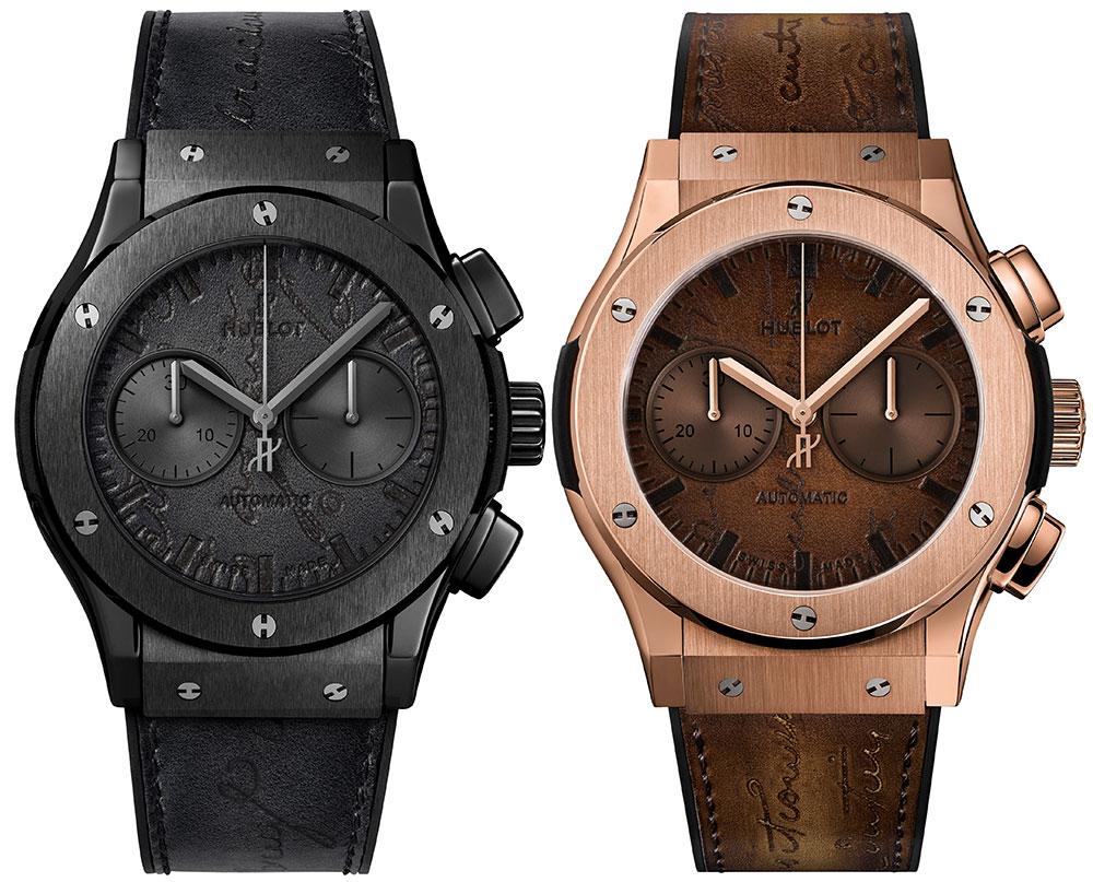Hublot Classic Fusion Chronograph Berluti Scritto Watch Watch Releases