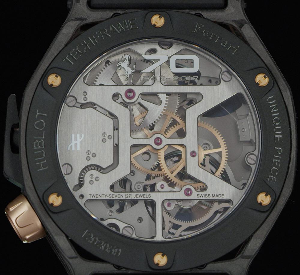 Hublot Techframe Ferrari 70 Years Tourbillon Chronograph Watch In PEEK Carbon & King Gold Watch Releases