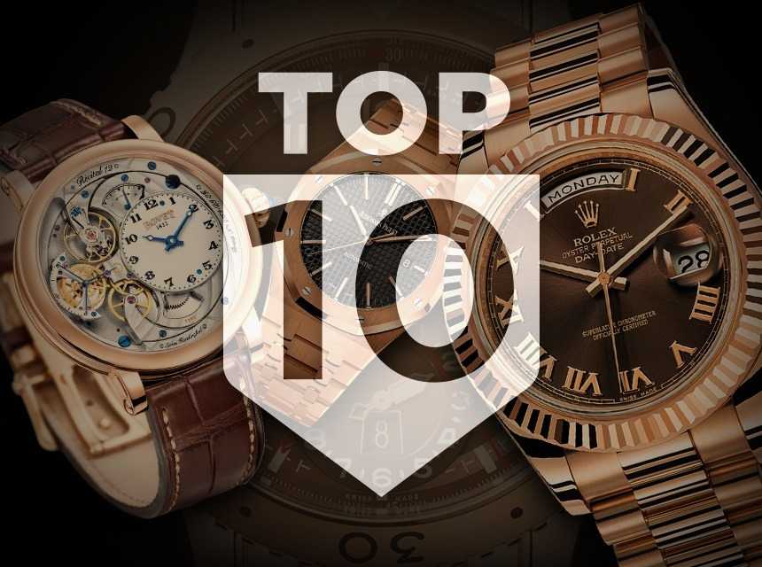Top 10 Gold Watches ABTW Editors' Lists Gold Watches for men