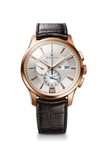 A Very Classic Replica Zenith El Primero Captain Winsor Annual Calendar Roes Gold Watch