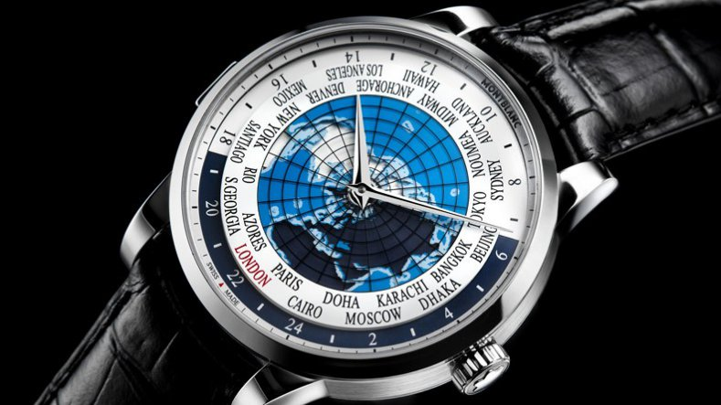 Perennial Design Montblanc Heritage Spirit Orbis Terrarum Worldtimer Copy Watch for Sale