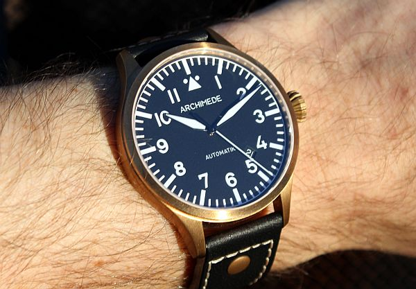 Archimede Pilot 42 Bronze Watch Review Wrist Time Reviews